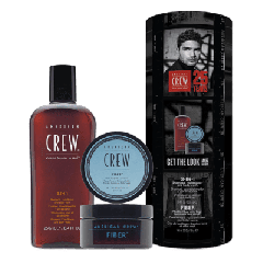 American Crew Pachet Hair & Body 3-IN-1 250ml + Styling Fiber crema par 85g
