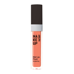 Make up Factory Mat Lip Fluid Longlasting Nude Apricot 26