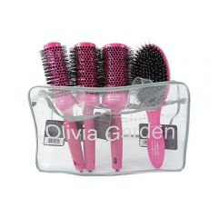 Olivia Garden Ceramic Ion Thermal Brush Roz si husa