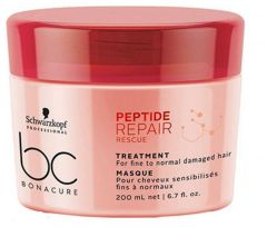 Schwarzkopf Professional Bonacure Peptide Repair Rescue Tratament par fin / normal 200ml
